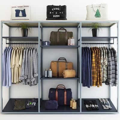 下得乐品牌模型库, 现代, 衣柜, 衣帽柜