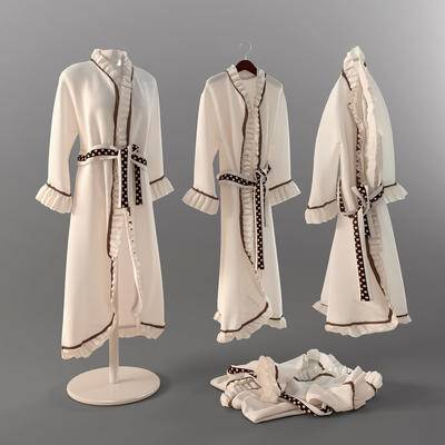 2000套高精3D单体模型, 现代, 浴袍, 浴衣