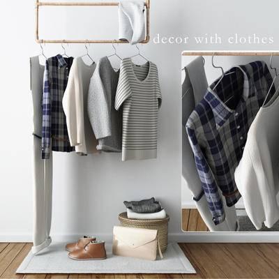 2000套高精3D单体模型, 现代, 衣服, 衣架