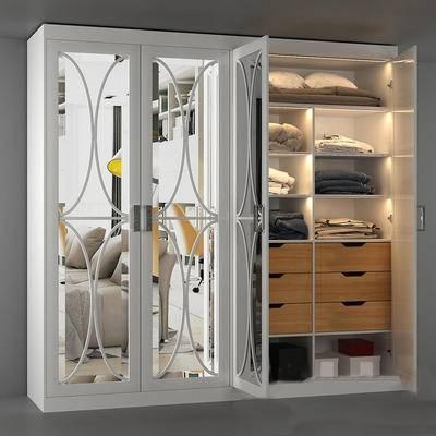 下得乐品牌模型库, 现代, 衣柜