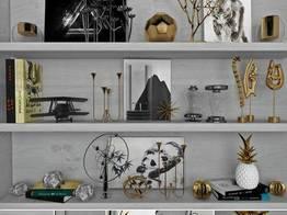 现代装饰架置物架陈设品摆件组合
