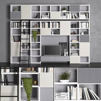 2000套国外模型, 现代, 装饰柜, 置物柜, 柜架, 摆件