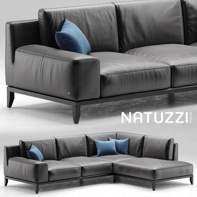 下得乐品牌模型库, 现代, 转角沙发, 拐角沙发, 沙发