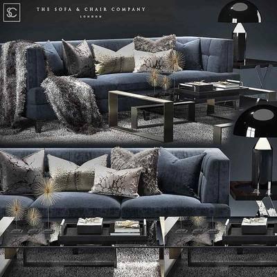 2000套国外模型, 现代, 多人沙发, 茶几组合, 沙发, 茶几