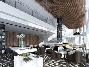 现代酒店休闲区洽谈区_3d模型