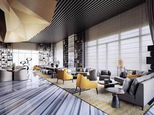 现代酒店会所洽谈区会客区_3d模型