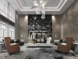 现代酒店会所洽谈区_3d模型