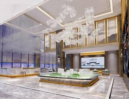 下得乐2019季千套模型, 现代, 大厅, 桌椅组合