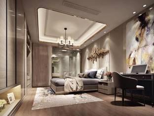 现代酒店客房单人房3D模型_3d模型