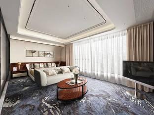 现代酒店客房单人房_3d模型