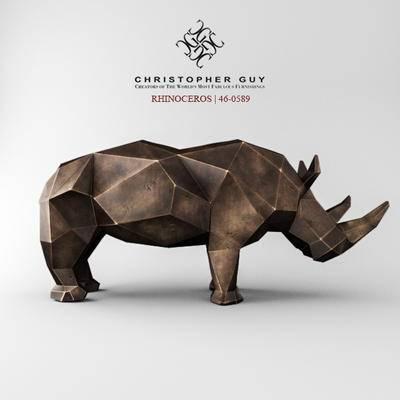 2000套高精3D单体模型, 现代, 雕塑, 犀牛雕塑, 摆件