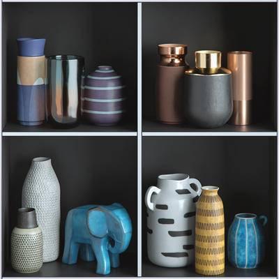 2000套国外模型, 现代, 陶瓷花瓶, 陈设品, 摆件