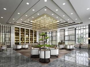 现代隆腾盛世中心售楼部_3d模型