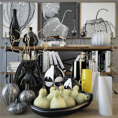 2000套高精3D单体模型, 食物, 餐具, 摆件, 现代