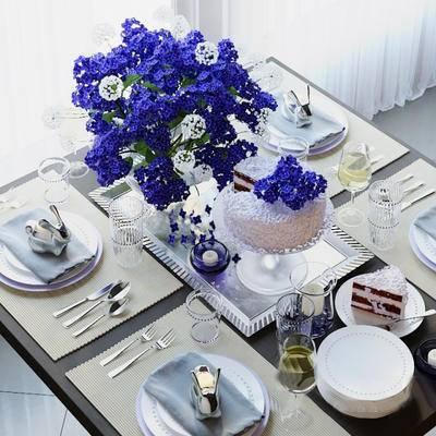 2000套高精3D单体模型, 现代, 餐具, 花瓶, 摆件