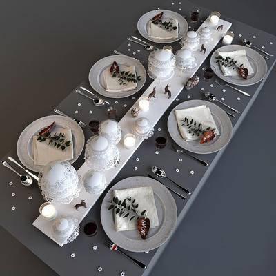 2000套高精3D单体模型, 现代, 餐具