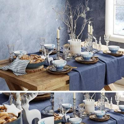 2000套高精3D单体模型, 餐具, 餐桌, 烛台, 地中海