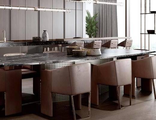 下得乐2019季千套模型, 现代, 餐厅, 桌椅组合