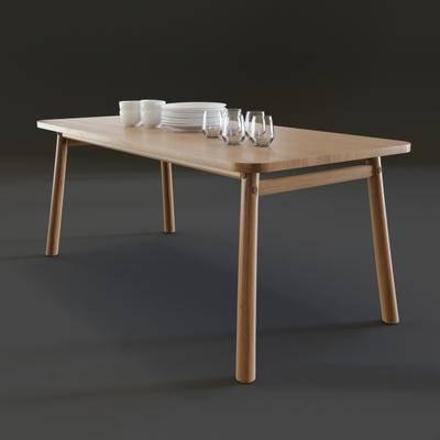 2000套国外模型, 现代, 餐桌