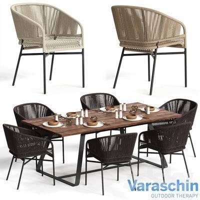 现代, 餐桌, 桌椅组合, 单椅
