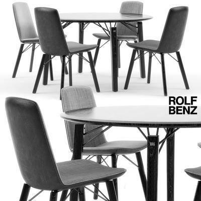 2000套高精3D单体模型, 现代, 餐桌, 桌椅组合, 单椅