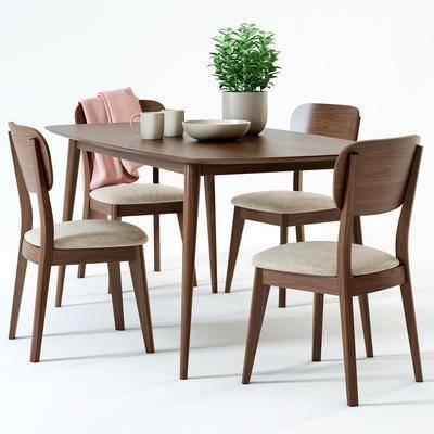 2000套国外模型, 现代, 餐桌, 桌椅组合, 单椅