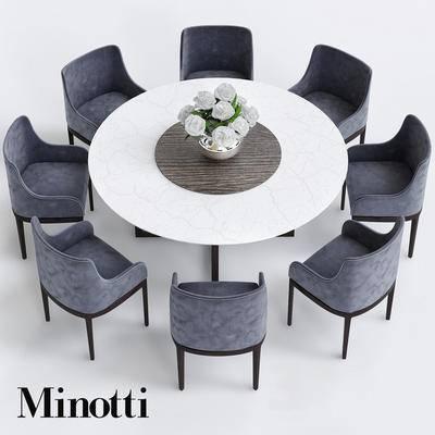 2000套高精3D单体模型, 现代, 餐桌, 桌椅组合, 单椅, 餐椅