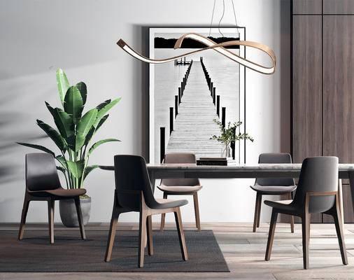下得乐2019季千套模型, 现代, 桌椅组合
