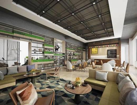 下得乐2019季千套模型, 现代, 桌椅组合, 餐厅