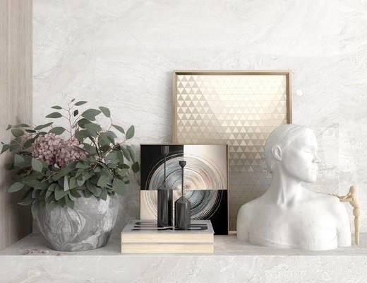 下得乐2019季千套模型, 下得乐品牌模型库, 现代, 花卉, 雕塑, 摆件, 装饰画, 书籍, 陈设品