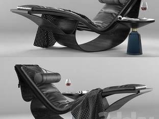 现代黑色沙发椅