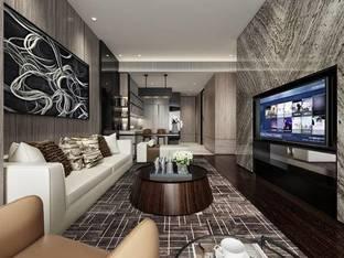 矩阵纵横重庆英利金融街公寓AF户型样板房_3d模型