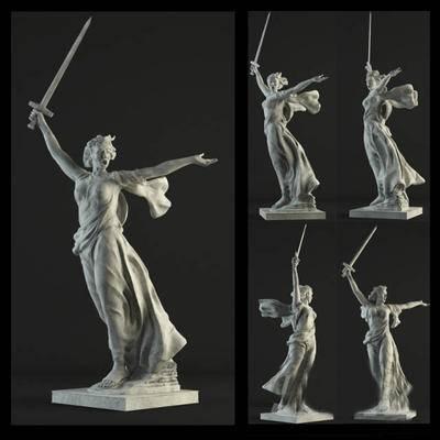 2000套高精3D单体模型, 简欧, 雕塑, 摆件, 人物雕塑