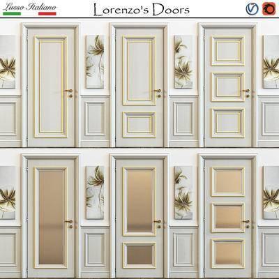 简欧, 单开门, 门, corona