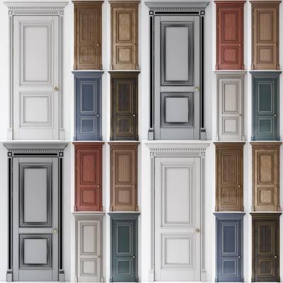 2000套高精3D单体模型, 简欧, 单开门, 门