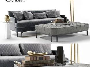 美国Baker后现代双人沙发