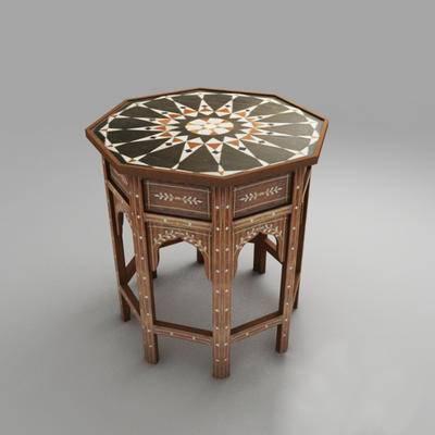 下得乐品牌模型库, 美式, 凳子
