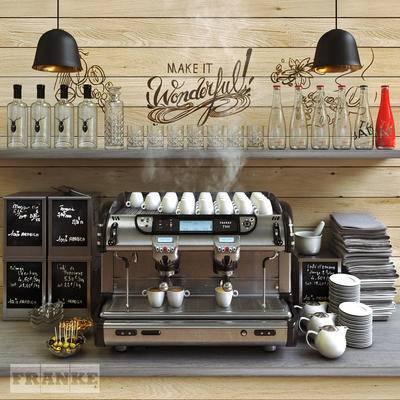 下得乐品牌模型库, 美式, 咖啡机, 吧台