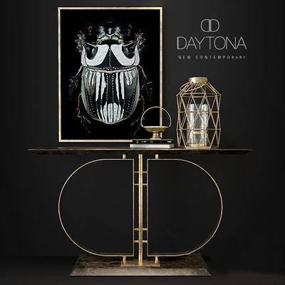 下得乐品牌模型库, 美式, 桌椅组合