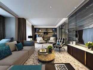 苏州华润金悦湾别墅现代客厅3D模型11_3d模型