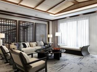 荣禾清凉山居叠墅新中式客厅3D模型3_3d模型