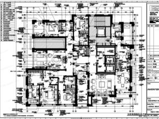 葛乔治+上海金地样板房+CAD施工图