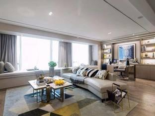 集艾室内设计龙湖天璞样板房现代客厅