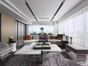 集艾设计龙湖紫宸香颂样板间客餐厅_3d模型