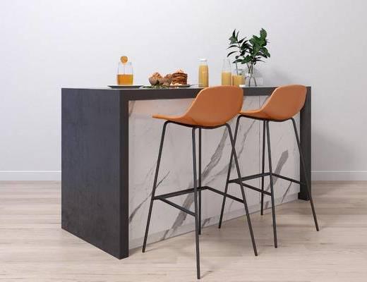 现代吧台, 吧台, 吧椅