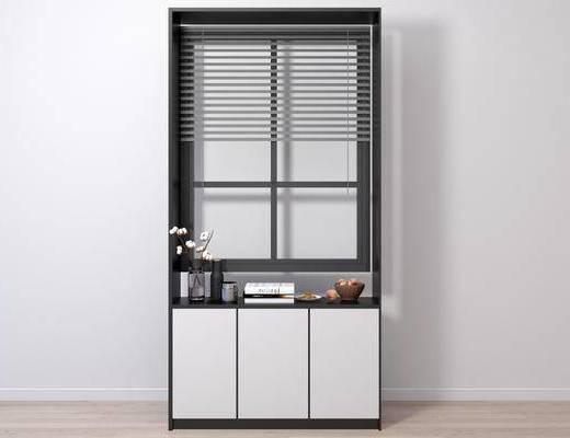 现代窗台, 窗台, 边柜