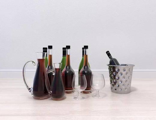 现代酒瓶酒杯, 酒瓶酒杯