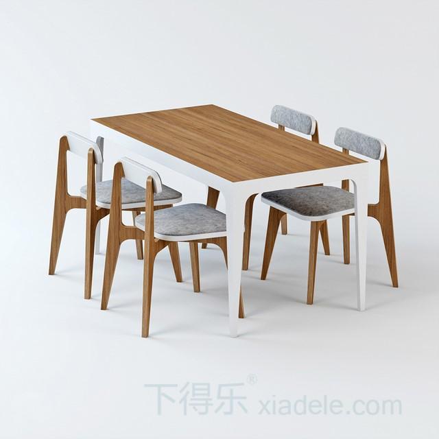 创意原木亚克力棉垫元素桌椅