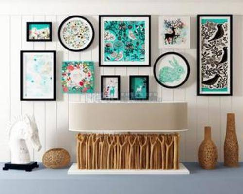 端景桌, 木质, 端景台, 装饰, 桌子, 创意, 现代