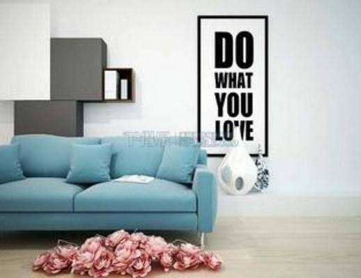 现代都市风格, 棉质沙发, 布艺沙发, 北欧沙发, 纯色沙发, 棉麻沙发, 模型, 沙发